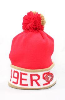 123Beanies San Francisco 49ers Logo Pin BeanieRedGold