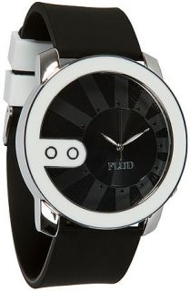 Flud Watches Watch Exchange with Interchangeable Bands in White and Black