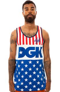 DGK Tank Top Proud 2 Be in Red, White and Blue