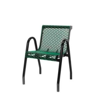 Ultra Play 18 in. Diamond Green Commercial Park Contour Food Court Portable Chair PBK953 VG