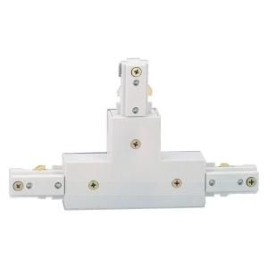 Hampton Bay White T Connector for Linear Track Lighting EC701WH