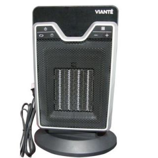 Viante Digital 13 in. 1,500 Watt Electrical Portable PTC Ceramic Heater With LED Touchscreen Display 1563