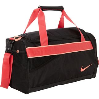 Varsity Duffel Black/Black/(Atomic Pink)   Nike All Purpose Duffels