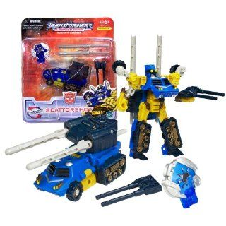 Hasbro Year 2007 Transformers UNIVERSE Series Scout Class 5 Inch Tall Robot Action Figure   Autobot SCATTORSHOT with Double Barrel Gun, Twin Missile Launcher, 2 Missiles and Cyber Planet Key (Vehicle Mode Mobile Missile Launcher) Toys & Games