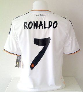 RONALDO#7 Real Madrid Home Soccer Jersey 2013/14 size M (New) : Numbers Jerseys Soccer Ronaldo : Sports & Outdoors