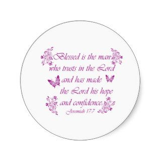 Inspirational Christian quotes Round Sticker
