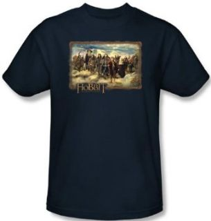 The Hobbit Shirt Movie Unexpected Journey Adult Navy Tee T shirt Novelty T Shirts Clothing