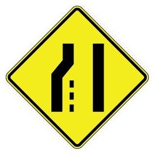 """Lane Ends Merge Right Symbol 36""""x36""""  Business And Store Signs"""