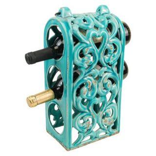 Wine Rack Ceramic Wine Bottle Holder   Blue by Drew De Rose