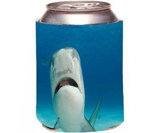 Rikki KnightTM Tiger Shark Nose Up Design Drinks Cooler Neoprene Koozie Kitchen & Dining