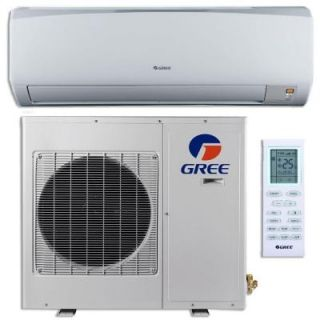 GREE High Efficiency 12,000 BTU (1 Ton) Ductless (Duct Free) Mini Split Air Conditioner with Inverter, Heat, Remote 208 230V GWH12KF D3DNB1C