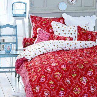 PiP Studio Bettwäsche Ruby Robin red 155x220 cm + 80x80 cm Küche & Haushalt