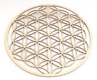 Berk EN 074 Meditations Zubehör   Blume des Lebens aus Holz, 28 cm Küche & Haushalt