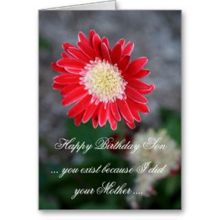 Funny Happy Birthday Son Greeting Card