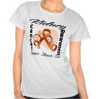 Heart Orange Ribbon   Kidney Cancer Awareness Tshirt