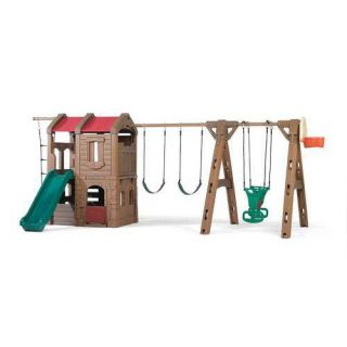 Step2 88.5 x 201 Adventure Lodge Play Center Swing Set Outdoor Play