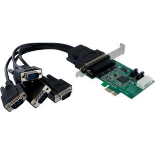 StarTech 4 Port Native PCI Express RS232 Serial Adapter Card with Startech Racks, Mounts, & Servers