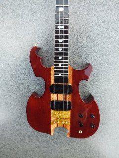 RGM141 John Paul Jones Led Zeppelin Bass Miniature Guitar   Electric Guitars