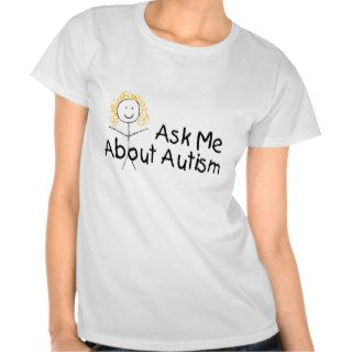 Ask Me About Autism (Girl 1) Tee Shirt