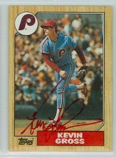 Kevin Gross AUTO 1987 Topps #163 Phillies PSA Pre cert Auction Lot: Sports Collectibles