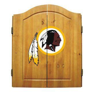 Washington Redskins NFL Dart Board w/Cabinet  Sports Fan Dart Equipment  Sports & Outdoors
