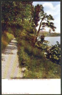 Shore Path encircling Lake Geneva WI postcard 191? Entertainment Collectibles
