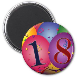 Happy 18th Birthday! Fridge Magnet