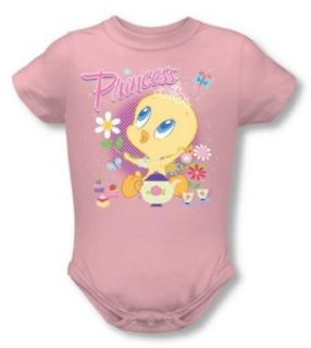 Looney Tunes   Tweety Pie Princess Infant Snapsuit T Shirt Clothing