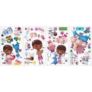 5 in. x 11.5 in. Doc McStuffins Peel and Stick 27 Piece Wall Decals RMK2280SCS