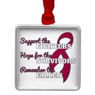 Sickle Cell Anemia Support Hope Remember Ornaments