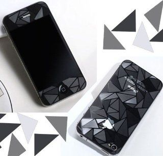 2pcs Clear 3D Diamond Full Body Screen Protector Film Sticker for iPhone 4/4S: Cell Phones & Accessories