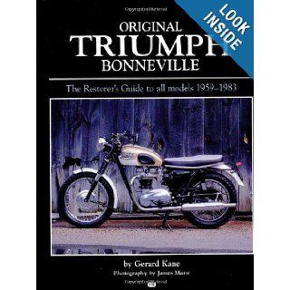 Original Triumph Bonneville (Bay View Books) David Marsden, Gerard Kane 9780760307762 Books