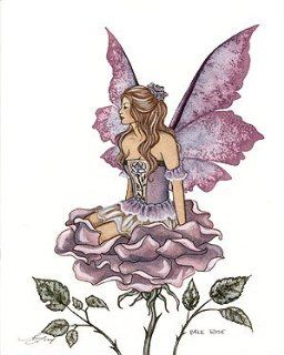 """Pale Rose Amy Brown Open Edition 8.5"""" X 11"""" Fairy Print"""
