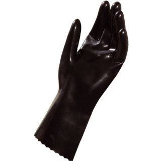 """MAPA Fluonit 468 Fluoroelastomer Glove, Chemical Resistant, 0.020"""" Thickness, 12"""" Length, Size 10, Black Chemical Resistant Safety Gloves Industrial & Scientific"""