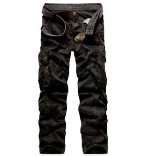 Juanshi Military Army Cargo Camo Combat Work Pants Color Black at  Men�s Clothing store: Casual Pants