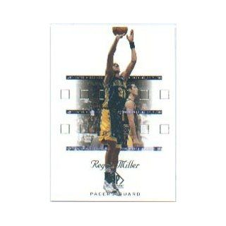 2001 02 SP Authentic #31 Reggie Miller Sports Collectibles