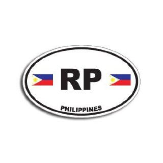 RP PHILIPPINES Country Auto Oval Flag   Window Bumper Sticker: Automotive