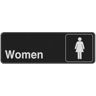 The Hillman Group 3 in. x 9 in. Plastic Womens Restroom Sign 841762
