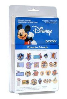 Brother EC352D Favorite Friends Embroidery Design Card