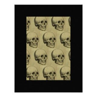 Halloween Scary Skulls Design Custom Invites