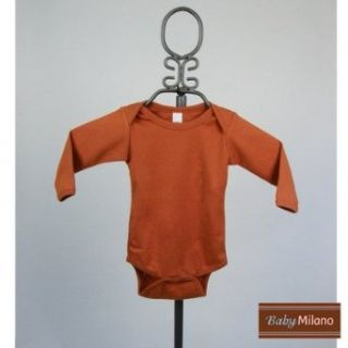 Long Sleeve Infant Bodysuit in Burnt Orange Size 0 3 Months Clothing
