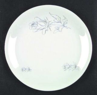 Winterling   Bavaria Wig2 Dinner Plate, Fine China Dinnerware   Gray Rose, Plati