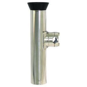 3/4 in. x 1 1/4 in. Stainless Steel Rail Mount Rod Holder with Adjustable Rail Clamp BR52228
