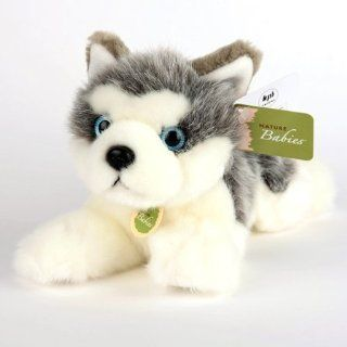 NEW Nature Baby Siberian Husky Plush TOY Stuffed Animal Cute Gift for Everyone Fast Shipping: Toys & Games