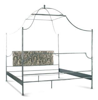 Dalton French Country Rustic Metal Old World Canopy Bed  King Home & Kitchen