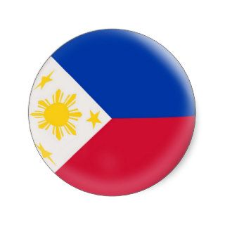20 small stickers Philippines flag
