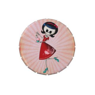Sweet & Scary Skeleton Girl Jelly Belly Tin