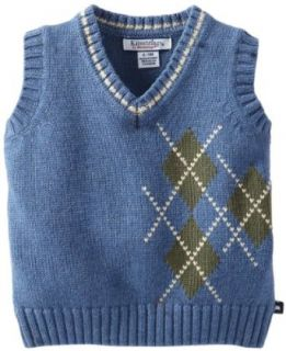 Kitestrings Baby boys Infant V Neck Sweater Vest, Navigator Blue, 6 9 Months Infant And Toddler Sweaters Clothing