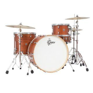 Gretsch Drums Catalina Club CT1 R444 SWG 4 Piece Drum Shell Pack, Satin Walnut Glaze Musical Instruments