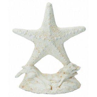 "Whitewash Cast Iron Starfish Door Stop 11""   Cast Iron Rustic Sealife   Nautical Decor   Nautical Home Decoration"